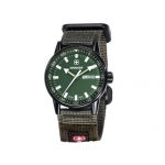 Reloj Wenger co mm ando black line dial color verde correa nylon verde