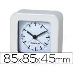 Reloj analógico con alarma color blanco