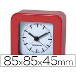 Reloj analógico con alarma color rojo