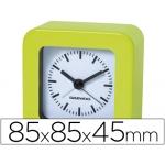 Reloj analógico con alarma color verde