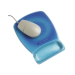 Reposamuñecas 3m para raton color azul fluorescente con superficie de precisión mwj30
