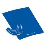 Reposamuñecas Fellowes deslizante ergonómico gel color azul
