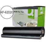Repuesto fax magic 2 Q-connect de transferencia termica 2 bobinas duración 150 páginas