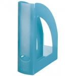 Revistero Liderpapel plástico color azul translúcido