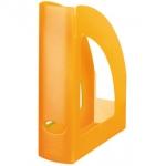 Revistero Liderpapel plástico color naranja translúcido