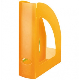Q-Connect KF04215 - Revistero de plástico, color naranja translúcido
