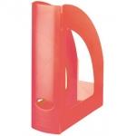 Revistero Liderpapel plástico color rojo translúcido