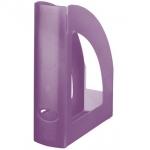 Q-Connect KF18044 - Revistero de plástico, color violeta translúcido
