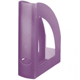 Revistero Liderpapel plástico color violeta translúcido