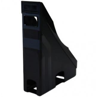 Revistero Offisys plástico flexible transparente negro