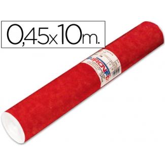 Aironfix 67803 - Rollo adhesivo, efecto ante, 0,45 x 10 metros, color rojo