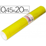 Rollo adhesivo Aironfix unicolor color amarillo brillo de 20 mt