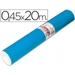 Rollo adhesivo Aironfix unicolor color azul mate medio de 20 mt