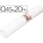 Rollo adhesivo Aironfix unicolor color blanco rollo de 20 mt