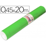 Rollo adhesivo Aironfix unicolor color verde medio rollo de 20 mt