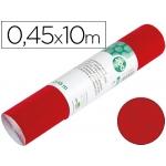 Liderpapel RO02 - Rollo adhesivo, efecto ante, 0,45 x 10 metros, color rojo