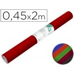 Liderpapel RO12 - Rollo adhesivo, efecto ante, 0,45 x 2 metros, colores surtidos
