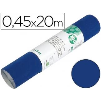 Rollo adhesivo Liderpapel unicolor color azul brillo rollo de x 20 mt