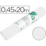 Rollo adhesivo Liderpapel unicolor color blanco brillo rollo de x 20 mt