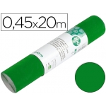 Rollo adhesivo Liderpapel unicolor color verde brillo rollo de x 20 mt