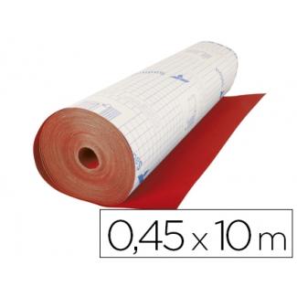 Aironfix 06702 - Rollo adhesivo, efecto ante, 0,45 x 10 metros, color rojo