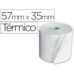 Rollo sumadora Q-connect termico 57 mm ancho x 35 mm diámetro de para maquinas terminal punto de venta