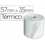 Q-Connect KF26122 - Rollo de sumadora, papel térmico, 57 mm de ancho x 60 mm de diámetro