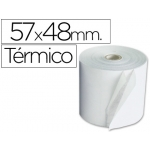 Rollo sumadora termico 57 mm ancho x 48 mm diámetro