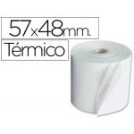 Liderpapel 4574811 - Rollo de sumadora, papel térmico, 57 mm de ancho x 48 mm de diámetro