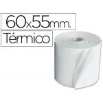 Liderpapel 4605511 - Rollo de sumadora, papel térmico, 60 mm de ancho x 55 mm de diámetro