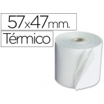 Rollo sumadora termico Q-connect 57 mm ancho x 47 mm diámetro de para maquinas tarjetas de créditos