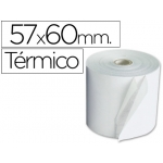 Rollo sumadora termico Q-connect 57 mm ancho x 60 mm diámetro