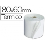 Rollo sumadora termico Q-connect 80 mm ancho x 60 mm diámetro