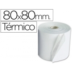 Rollo sumadora termico Q-connect 80 mm ancho x 80 mm diámetro