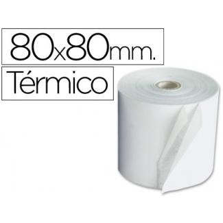 Q-Connect KF02099 - Rollo de sumadora, papel térmico, 80 mm de ancho x 80 mm de diámetro