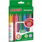 Alpino Standard AR001002 - Rotuladores de colores, caja de 12 colores