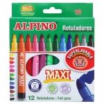 Rotulador Alpino maxi caja de 12 colores