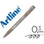 Rotulador Artline calibrado micrométrico color negro 0.3 mm resistente al agua