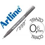 Rotulador Artline calibrado micrométrico color negro 0,6 mm resistente al agua