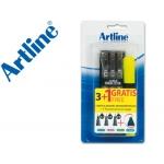 Rotulador Artline calibrado micrométrico ek negro bolsa de3 + fluorescente 660 blister