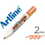Rotulador Artline camiseta color naranja fluorescente punta redonda 2 mm para uso en camisetas