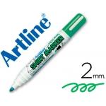 Rotulador Artline camiseta color verde fluorescente punta redonda 2 mm para uso en camisetas