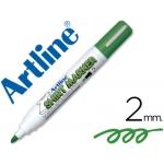 Rotulador Artline camiseta color verde punta redonda 2 mm para uso en camisetas