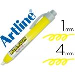 Rotulador Artline clix fluorescente color amarillo punta biselada 4.00 mm