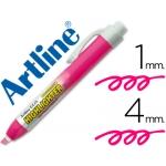 Rotulador Artline clix fluorescente color rosa punta biselada 4.00 mm