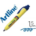 Rotulador Artline clix permanente color azul punta retractil redonda 1,5 mm