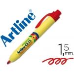 Rotulador Artline clix permanente color rojo punta retractil redonda 1,5 mm
