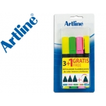 Rotulador Artline fluorescente 3+1 en blister