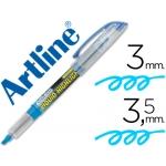 Artline 640 - Rotulador fluorescente, punta biselada, color azul