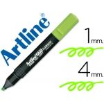 Artline 660 - Rotulador fluorescente, punta biselada, color verde